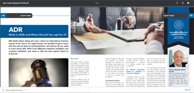 April Lawyer Magazine Thumbnail